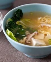 Tofu and Mushroom Miso Soup Recipe