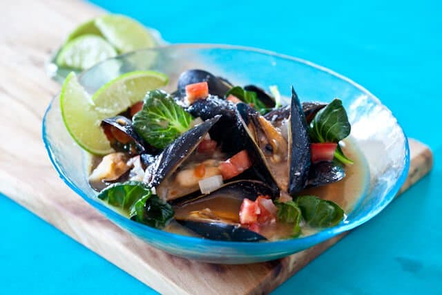 Spicy Steamed Mussels in Miso Broth - Steamy Kitchen Recipes