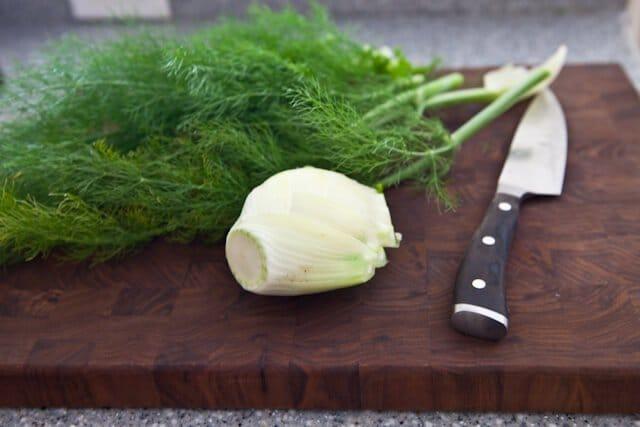 French Carrot Fennel Salad Recipe cutting fennel