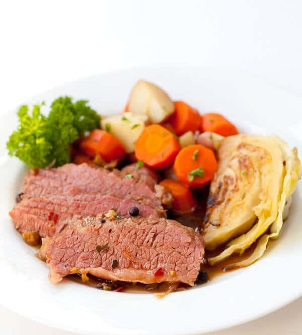 Guinness Corned Beef with Cabbage