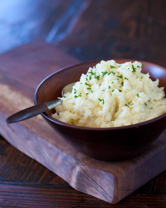 "Cauliflower Mashed ""Potatoes"" Recipe | Steamy Kitchen"