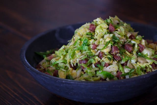 Brussels Sprouts Chinese Sausage Recipe