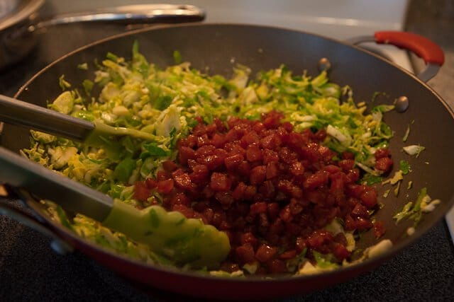 Brussels Sprouts with Chinese Sausage Recipe