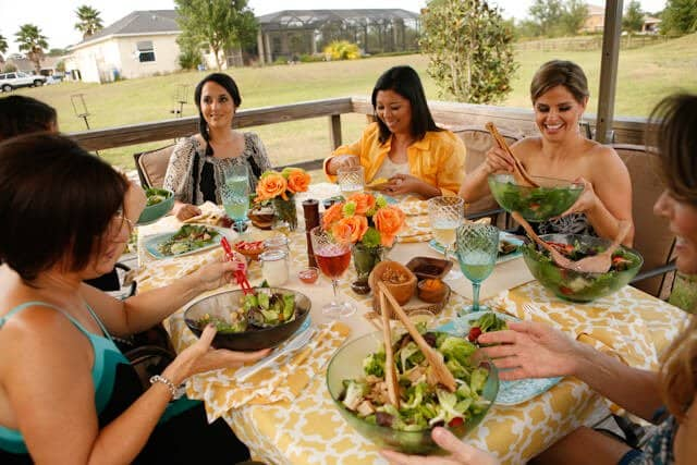 Dole Salad Party table