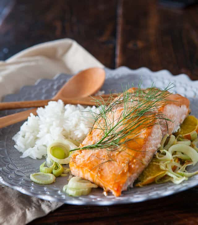 Miso Salmon Orange Fennel Recipe
