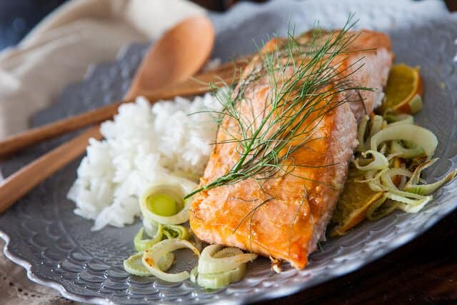 Miso Salmon with Orange and Fennel Recipe • Steamy Kitchen Recipes
