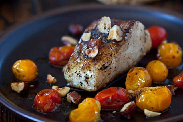 Cod with Hazelnut Browned Butter - Steamy Kitchen Recipes