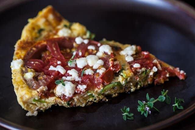 slice of frittata Zucchini Frittata Recipe