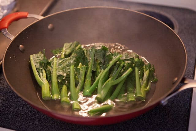Chinese Broccoli with Garlicy Ginger Miso Recipe