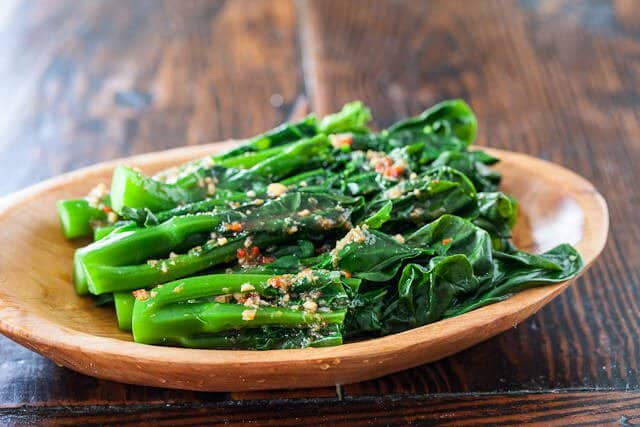 Chinese Broccoli Recipe with Garlicky Ginger Miso