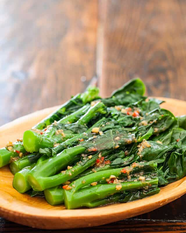 Chinese Broccoli With Garlicy Ginger Miso Recipe — Dishmaps