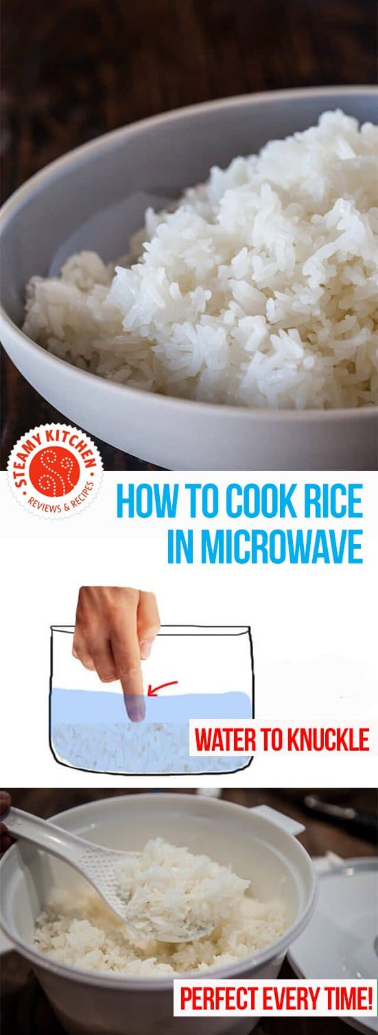 How to cook rice in the microwave, perfect every time! With an Asian Grandmother's secret to measuring water.