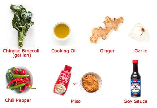 ingredient map Chinese Broccoli Garlicy Ginger Miso Sauce Recipe