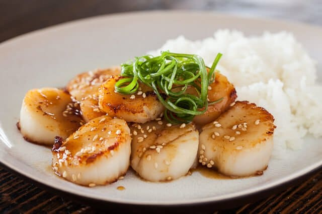 Scallops with Mustard Miso Sauce Recipe