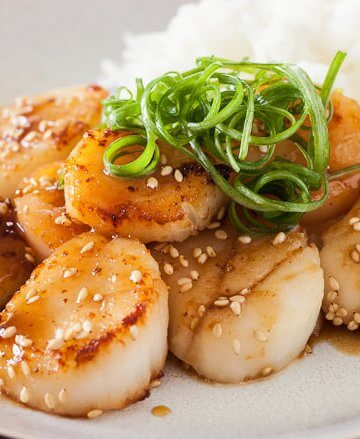 Scallop with Mustard Miso Sauce - Steamy Kitchen Recipes