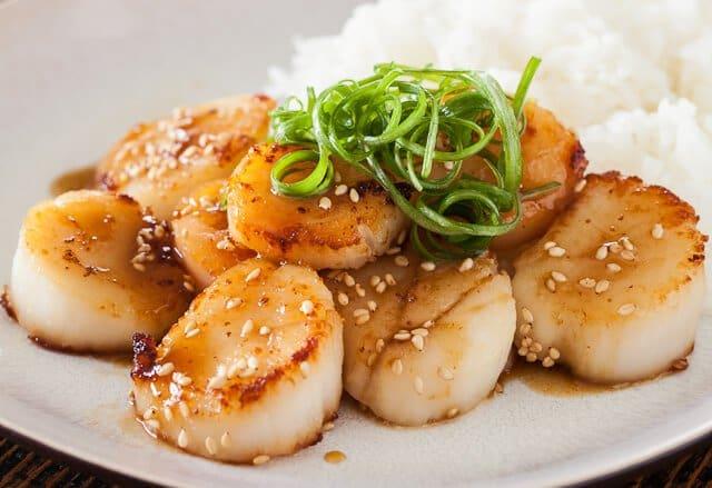 Scallops with Mustard Miso Sauce Recipe