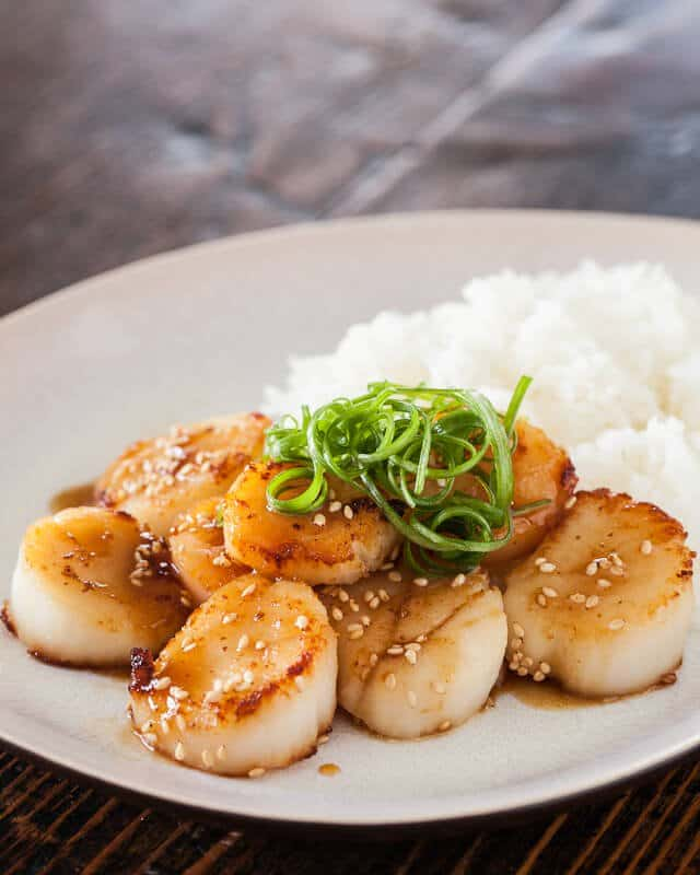 sauted scallop s in miso sauce shallot marinated tofu with miso ...