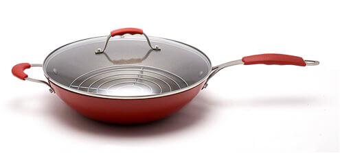 Steamy Kitchen Wok Rice Bran Oil Launch Enamel Surface
