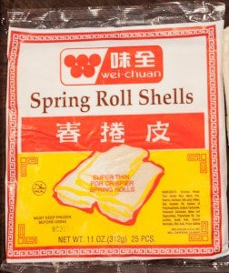 Chinese Egg Rolls Recipe wrapper brand
