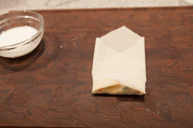 Fold wrapper tightly