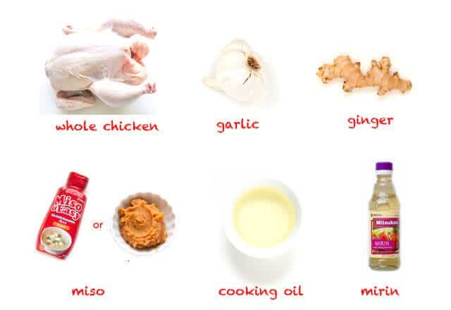 ingredient map Miso Roast Chicken Recipe