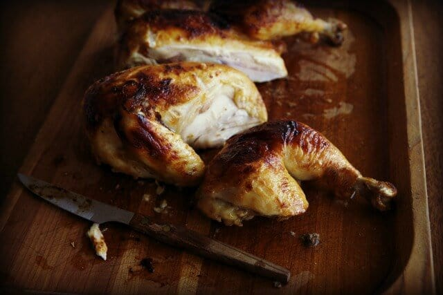 Miso Roast Chicken side view