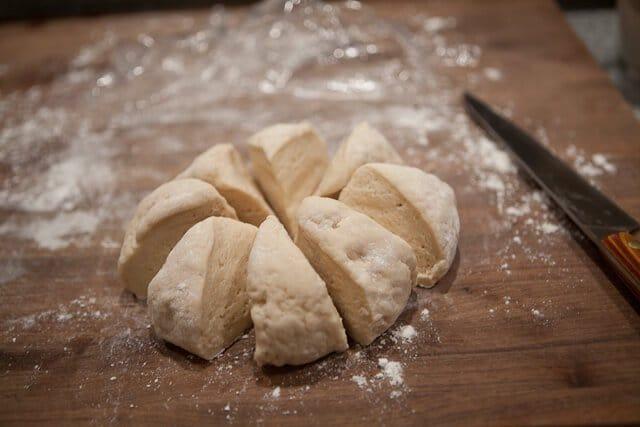 Pork Belly Buns Recipe dough in 8 pieces