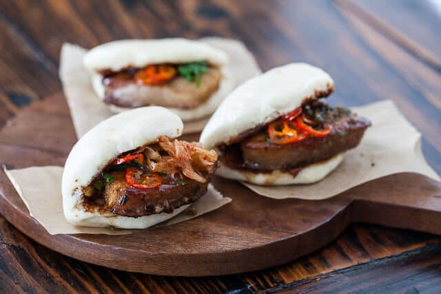 Pork Belly Buns Recipe kimchi