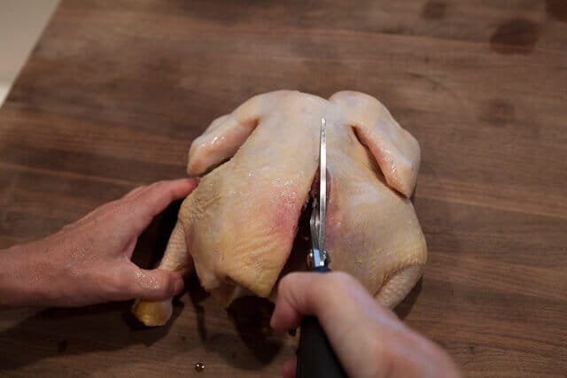 Miso Roast Chicken cutting 2