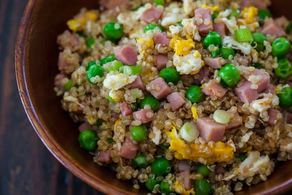 Quinoa Fried Rice Recipe close-up
