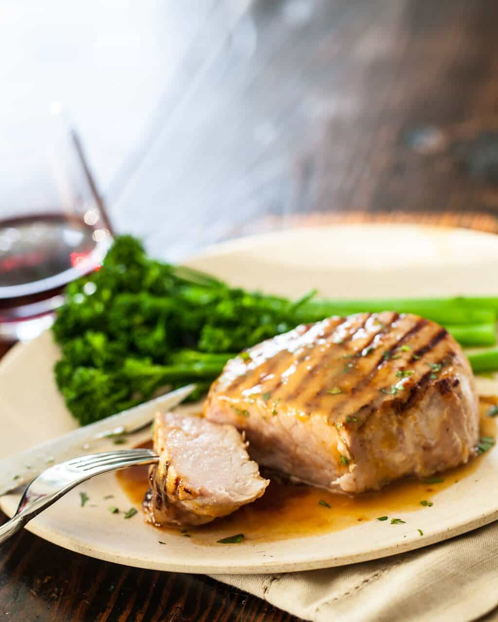 Whiskey Miso Pork Chops • Steamy Kitchen Recipes