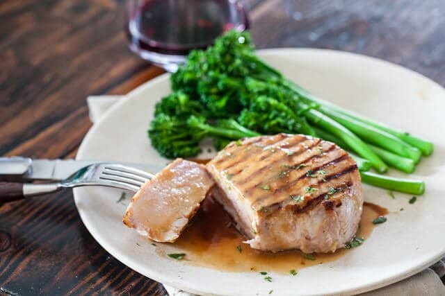Whiskey Miso Pork Chops