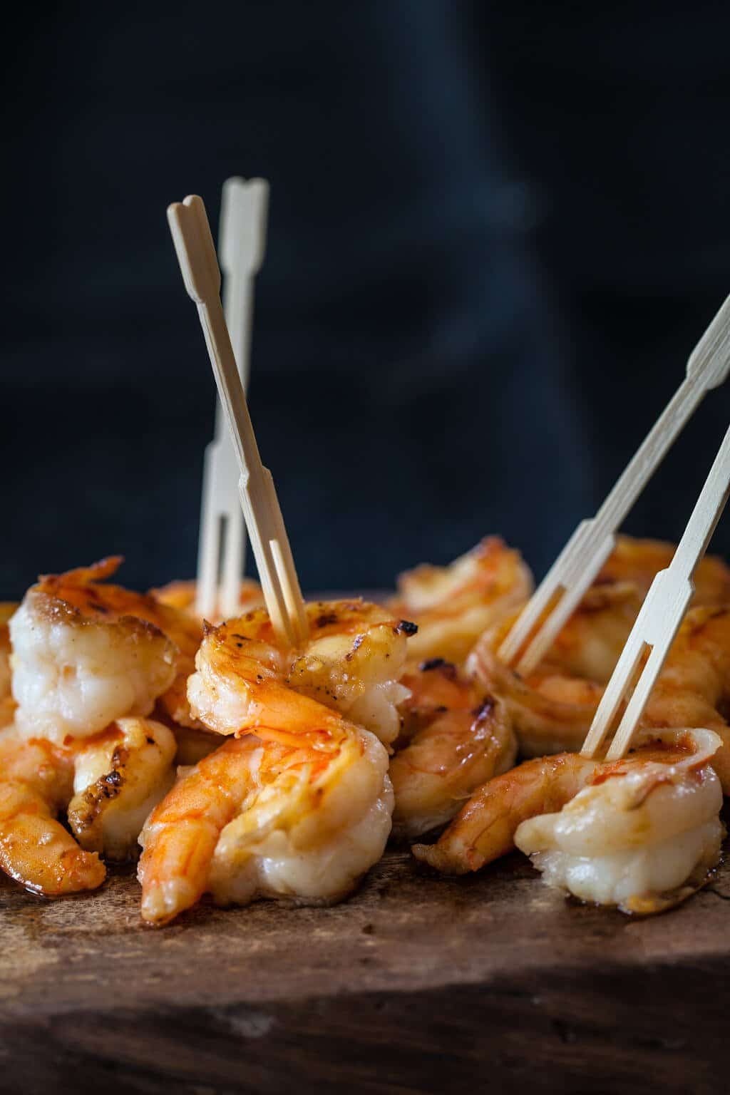 Miso Butter Shrimp on table
