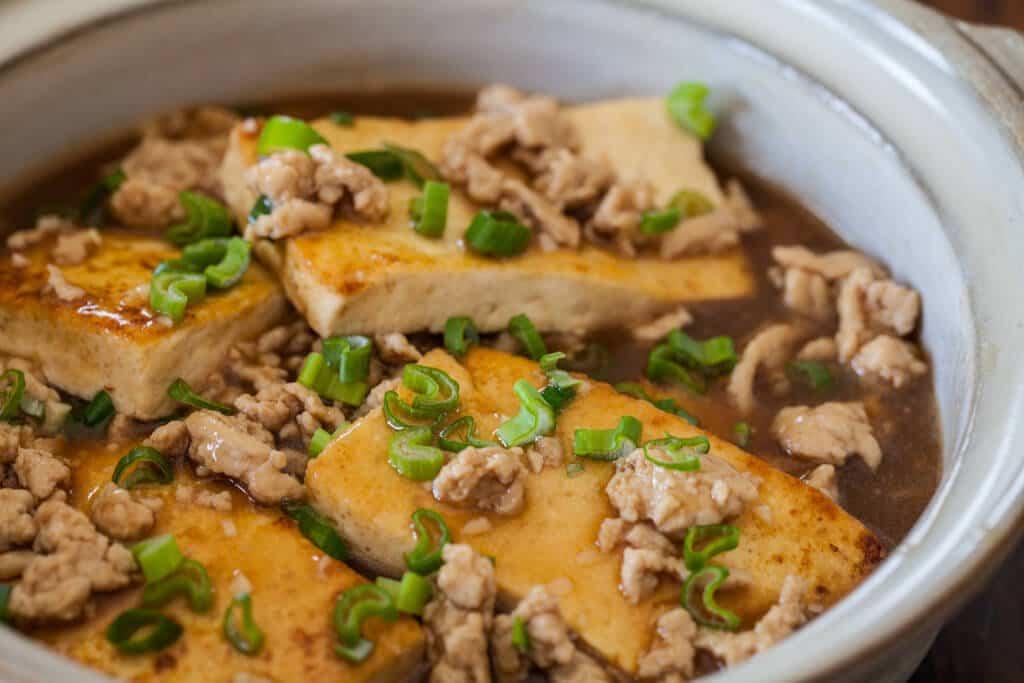 Chinese Braised Tofu with Ground Pork Recipe