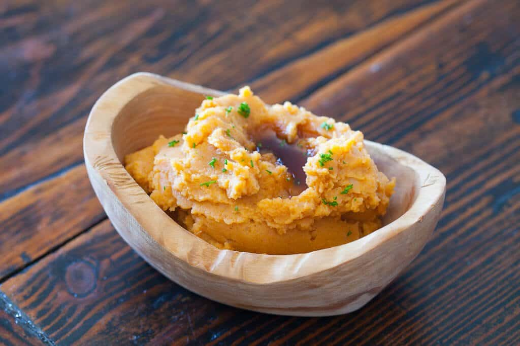 Pumpkin Mashed Potatoes in a bowl