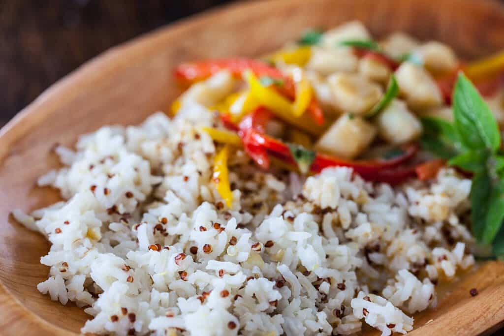 Make-Ahead Curried Coconut Quinoa With Shrimp And Basil Recipes ...