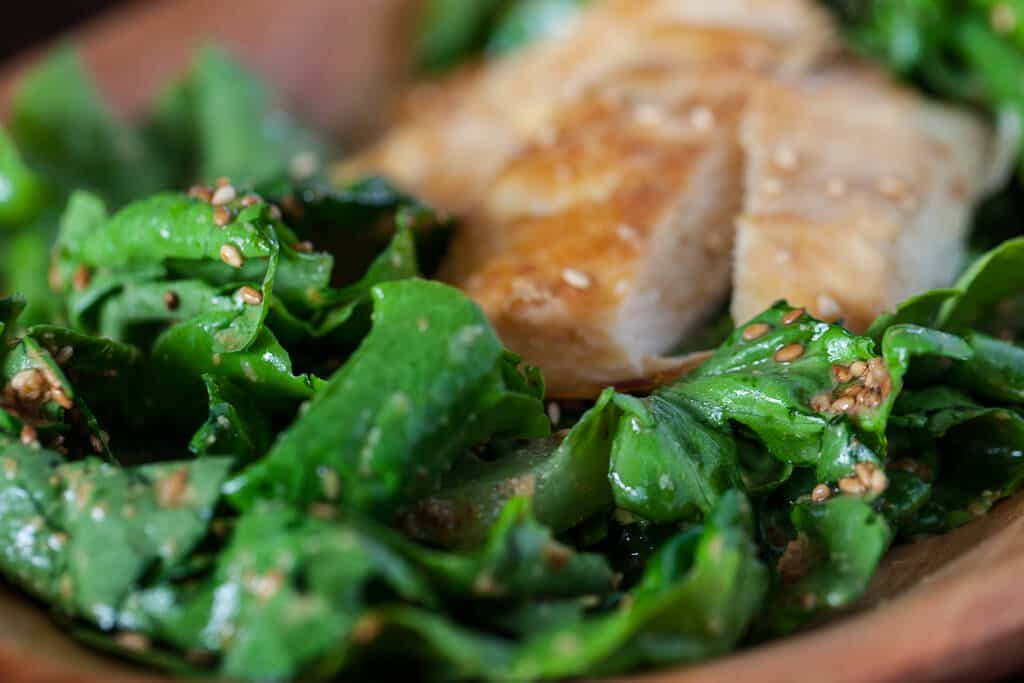 Chicken Salad with Sesame-Miso Dressing Recipe