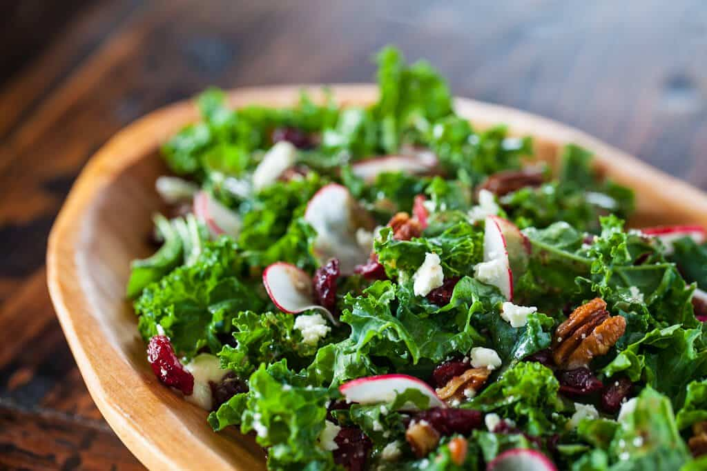 Kale Salad with Cherries and Pecans - Steamy Kitchen Recipes