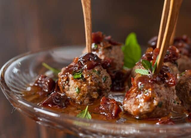 Kofta Meatballs with Sweet and Sour Cherry Sauce Recipe