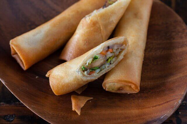 Vegetable Spring Rolls Recipe | Steamy Kitchen Vegetarian Egg Rolls