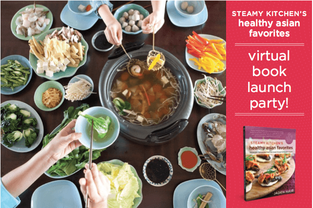 Healthy asian favorites excerpt and book launch party for Asian cuisine books