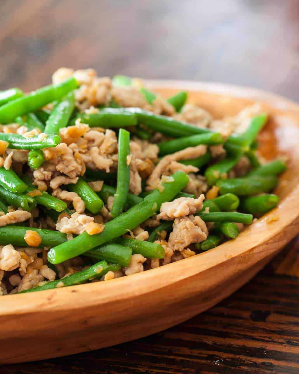Green Beans With Chinese Preserved Radish Stir Fry