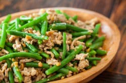 Green Bean Stir Fry with Chicken and Preserved Radish Recipe