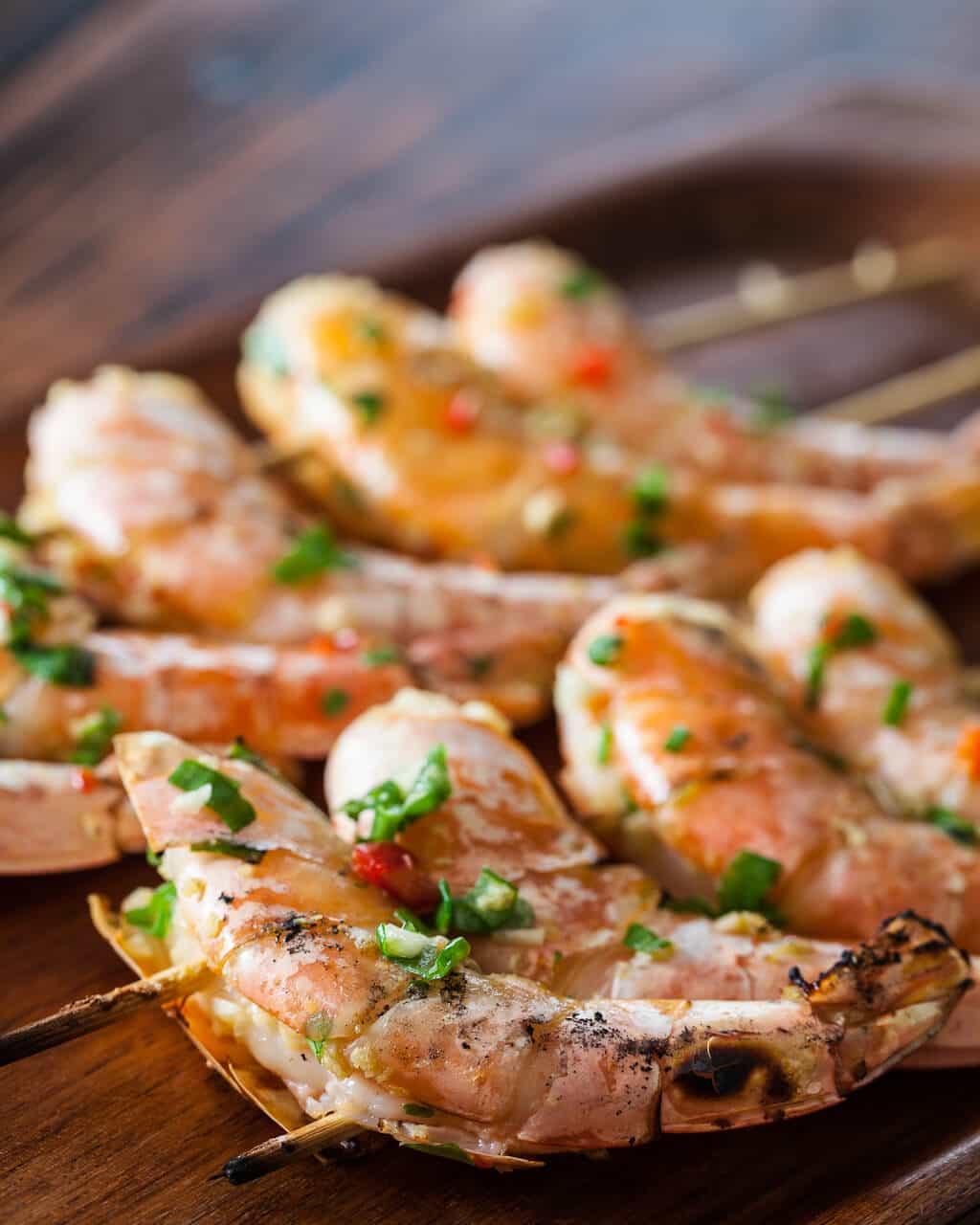 On shrimp barbeque the asian kraft
