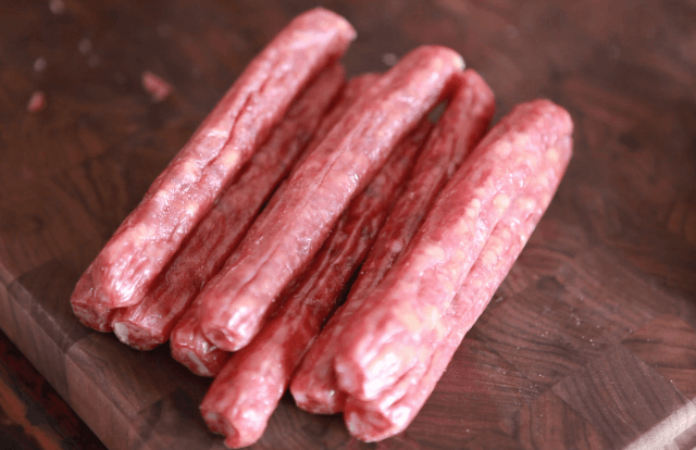 Chinese Sausage and Rice Recipe - uncooked