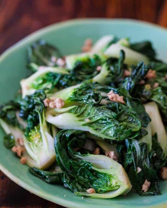 Baby Bok Choy with Ground Chicken Stir Fry - Steamy Kitchen Recipes
