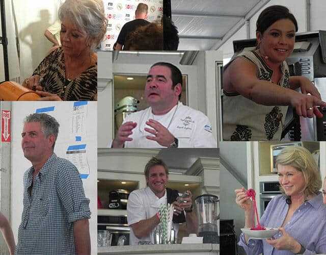 celebrity chef collage