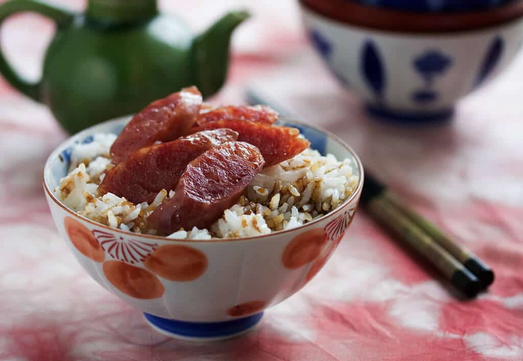 chinese-sausage-with-rice-and-sweet-soy-sauce