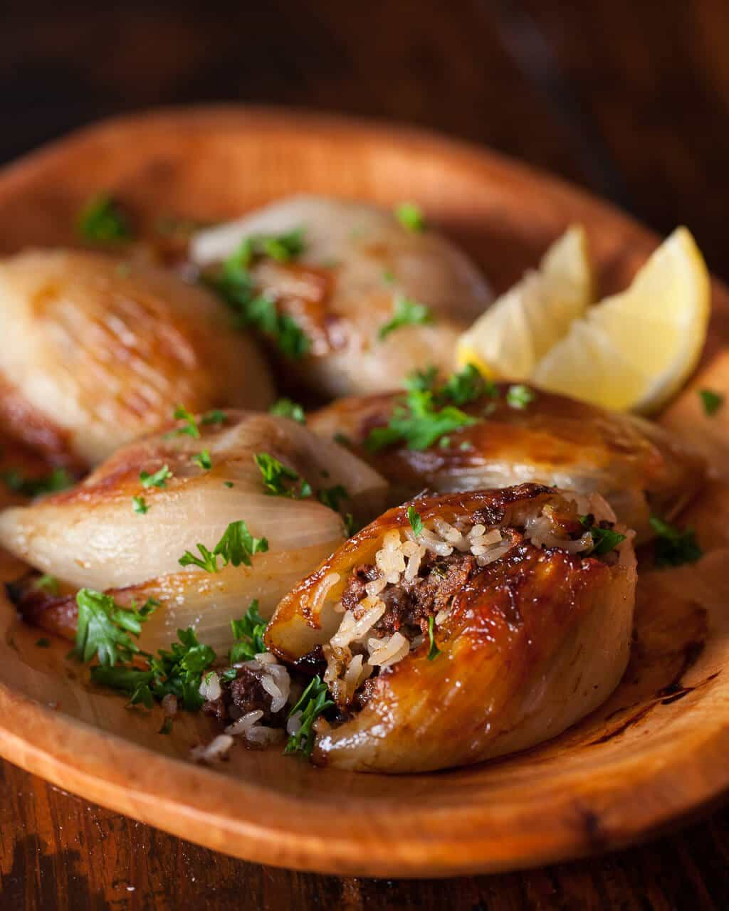 Lebanese Roasted Stuffed Onions Recipe