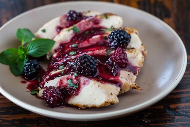 Grilled Chicken with Blackberry Sweet and Sour Sauce • Steamy Kitchen Recipes